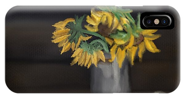 IPhone Case featuring the painting The Sun Flowers  by Fe Jones