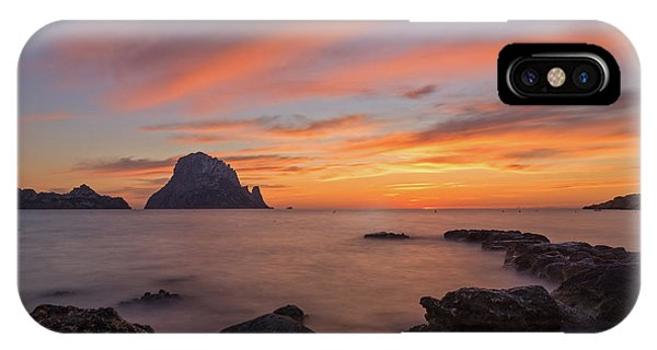 The Sunset On The Island Of Es Vedra, Ibiza IPhone Case