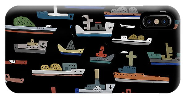 Vector Graphics iPhone Case - The Symbolic Image Of The Ships On A by Dmitriip