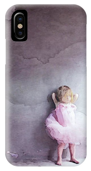 IPhone Case featuring the mixed media Pink Tutu by Susan Maxwell Schmidt