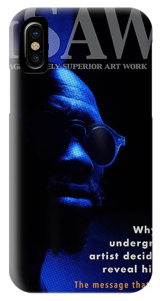IPhone Case featuring the digital art The Underground Artist by ISAW Company