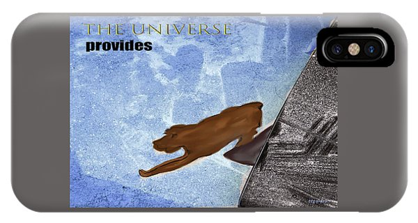 IPhone Case featuring the digital art The Universe Provides by Teresa Epps