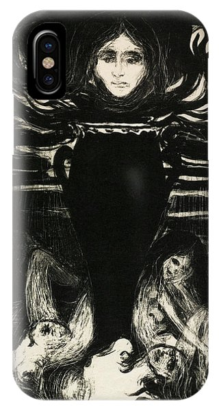 Damage iPhone Case - The Urn - Digital Remastered Edition by Edvard Munch