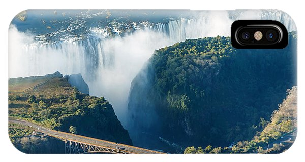 River Flow iPhone Case - The Victoria Falls Is The Largest by Vadim Petrakov