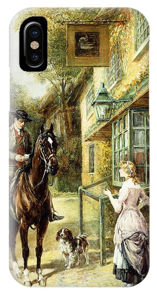 English Village iPhone Case - The Village Postman by Heywood Hardy
