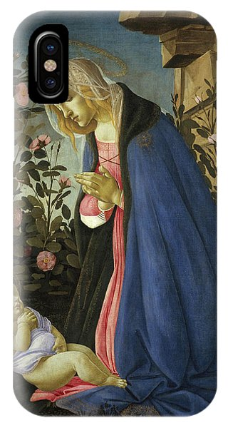 Botticelli iPhone Case - The Virgin Adoring The Sleeping Christ Child by Sandro Botticelli