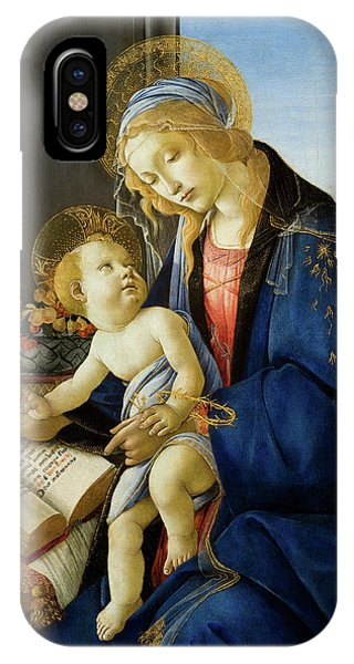 Botticelli iPhone Case - The Virgin And Child, The Madonna Of The Book by Sandro Botticelli