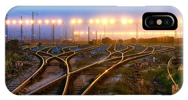 Railroad Station iPhone Case - The Way Forward Railway by Hxdyl