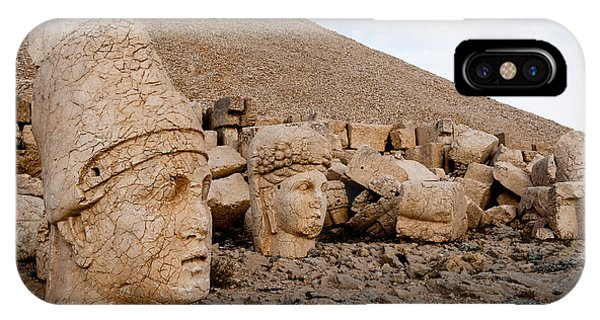 Mythology iPhone Case - The West Terrace Of Mount Nemrut With by Cornfield