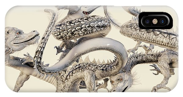 Worship iPhone Case - The White Dragons by Betsy Knapp