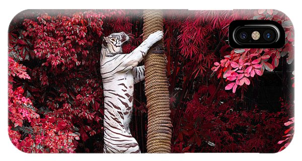 Claws iPhone Case - The White Tiger by Jeep2499