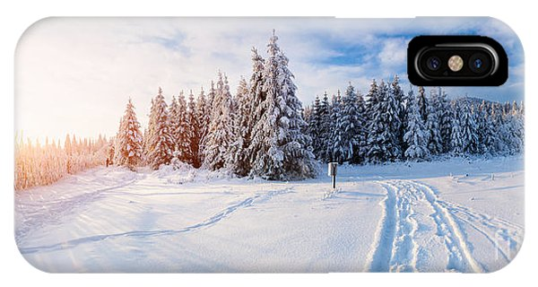 Snowy Road iPhone Case - The Winter Road by Standret