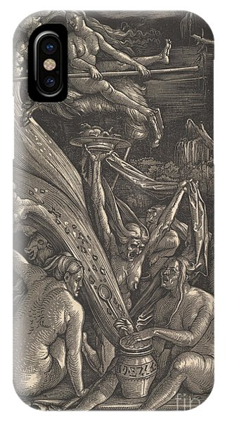 Cauldron iPhone Case - The Witches, 1510 by Hans Baldung Grien