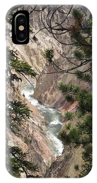 The Yellowstone River Seen Through The Pines IPhone Case