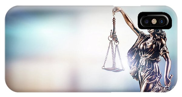 Fairness iPhone Case - Themis, Symbol Of Law On Modern Background. by Michal Bednarek