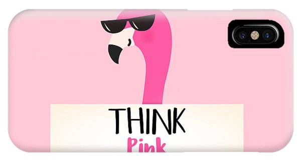 Think Pink - Baby Room Nursery Art Poster Print IPhone Case