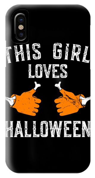 This Girl Loves Halloween IPhone Case
