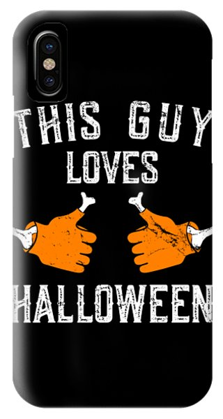 This Guy Loves Halloween IPhone Case