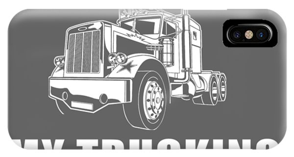 Trucking iPhone Case - This Job Thing Sure Is Messing Up My Trucking Career by Black Shirt