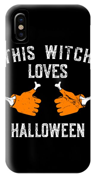 This Witch Loves Halloween IPhone Case