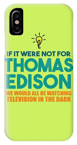 Thomas Edison IPhone Case