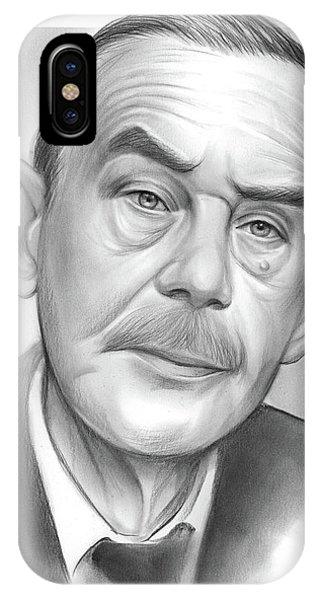 Nobel iPhone Case - Thomas Mann by Greg Joens