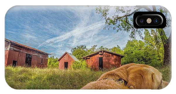 IPhone Case featuring the photograph Thornburg Barns By Photo Dog Jackson by Matthew Irvin