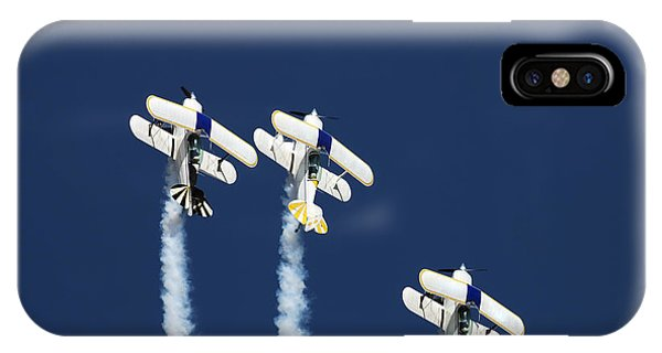 Airplanes iPhone Case - Three Aerobatic Aeroplanes Flying by Johan Swanepoel