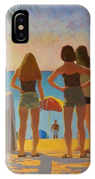 Three Beach Girls IPhone Case