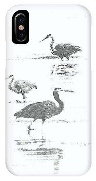 Three Blue Herons IPhone Case