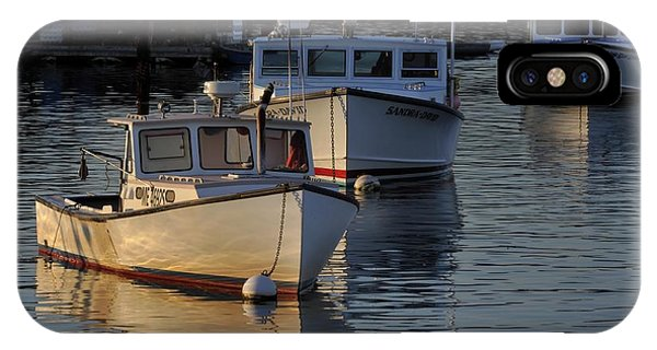 Three Boats In Maine IPhone Case