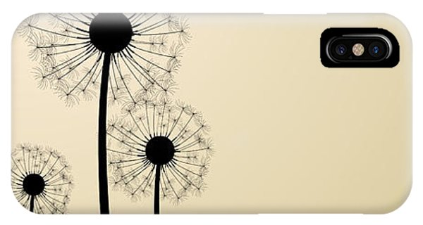 Seeds iPhone Case - Three Dandelion Silhouettes. Vector by Vjom