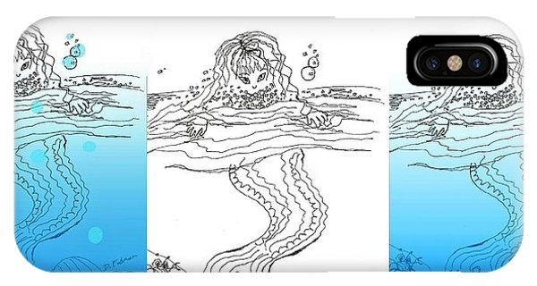 Three Mermaids All In A Row IPhone Case