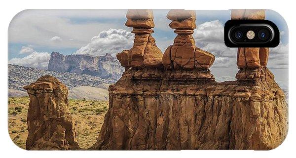 Three Sisters Hoodoos Goblin Valley State Park IPhone Case