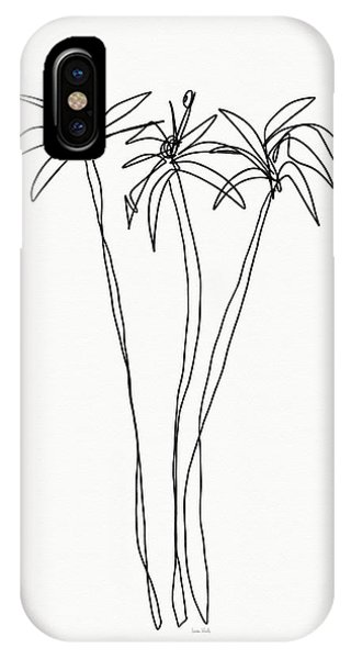 Palm Tree iPhone X Case - Three Tall Palm Trees- Art By Linda Woods by Linda Woods