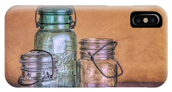 Container iPhone Case - Three Vintage Ball Jars by Tom Mc Nemar