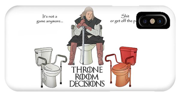 Toilet Humor iPhone Case - Throne Room Decisions by John Haldane