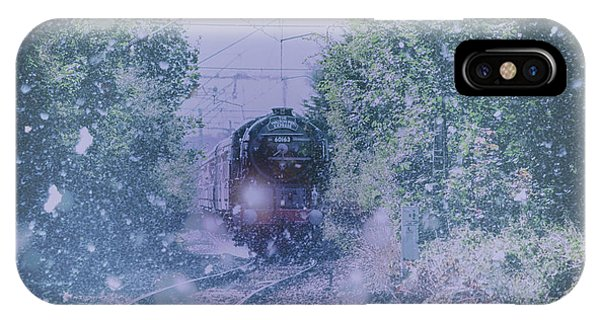 Railroad Station iPhone Case - Through The Snow by Martin Newman