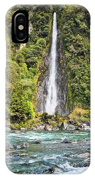 IPhone Case featuring the photograph Thunder Creek Falls - New Zealand by Steven Ralser