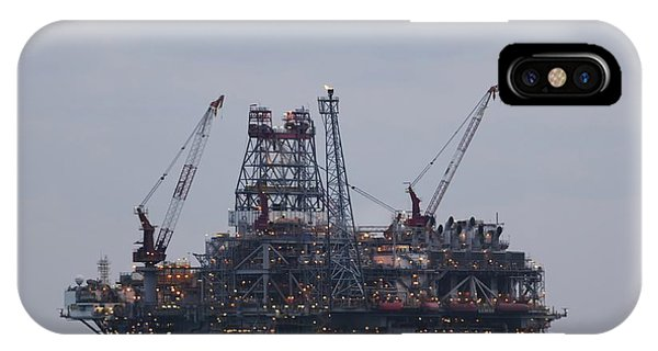 IPhone Case featuring the photograph Thunderhorse Pdq Oil Platform by Bradford Martin