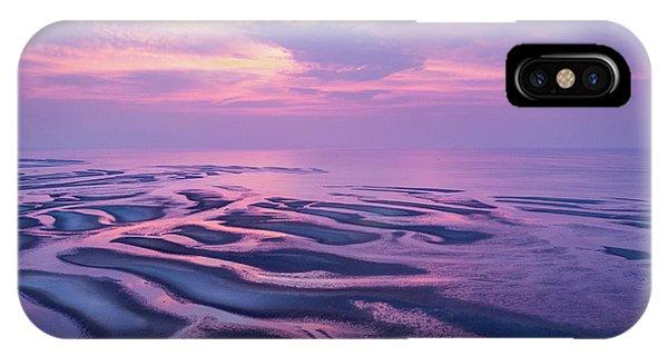 Tidal Flats Sunset IPhone Case
