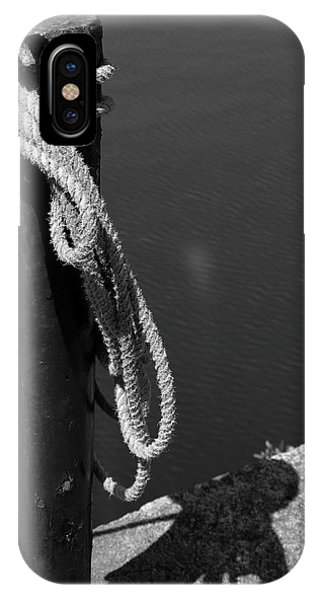 IPhone Case featuring the photograph Tied, Rope by Edward Lee