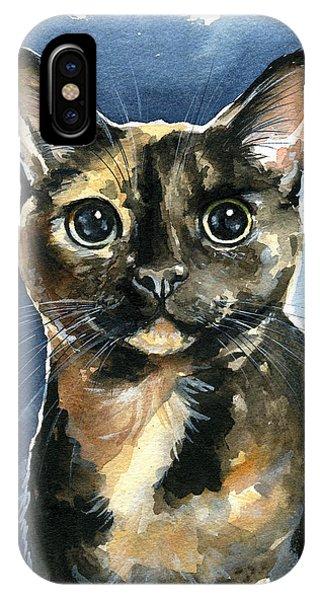 Tiffany Tortoiseshell Cat Painting IPhone Case