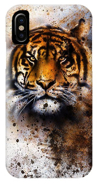 Cute Kitten iPhone Case - Tiger Collage On Color Abstract by Jozef Klopacka