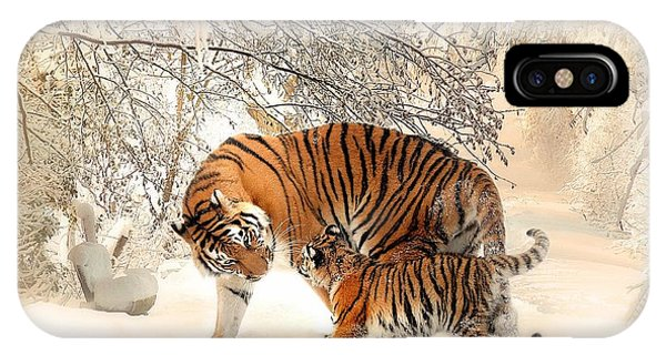 Tiger Family IPhone Case