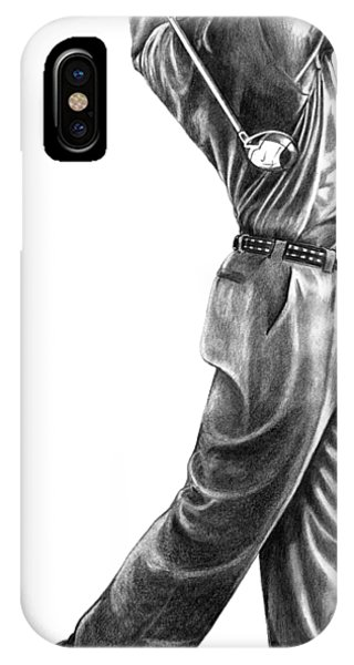 Golf iPhone Case - Tiger Woods Full Swing by Murphy Elliott