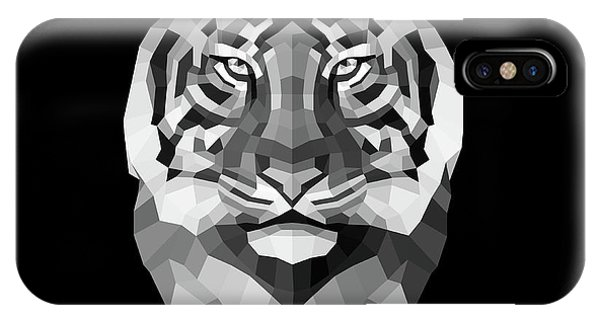 Lynx iPhone Case - Tiger's Face by Naxart Studio