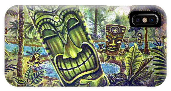 Tiki Genie's Sacred Pools IPhone Case