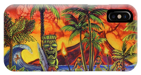 Tiki Surf A Lot IPhone Case