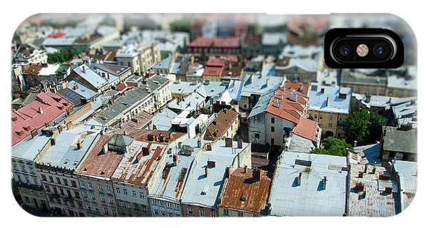 Culture iPhone Case - Tilt Shift  Lviv Town Roof In Ukraine by Andy pol
